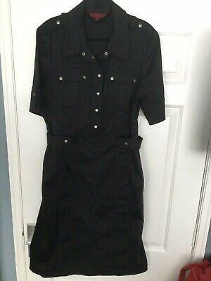 black military shirt Dress By John Richmond Size 16
