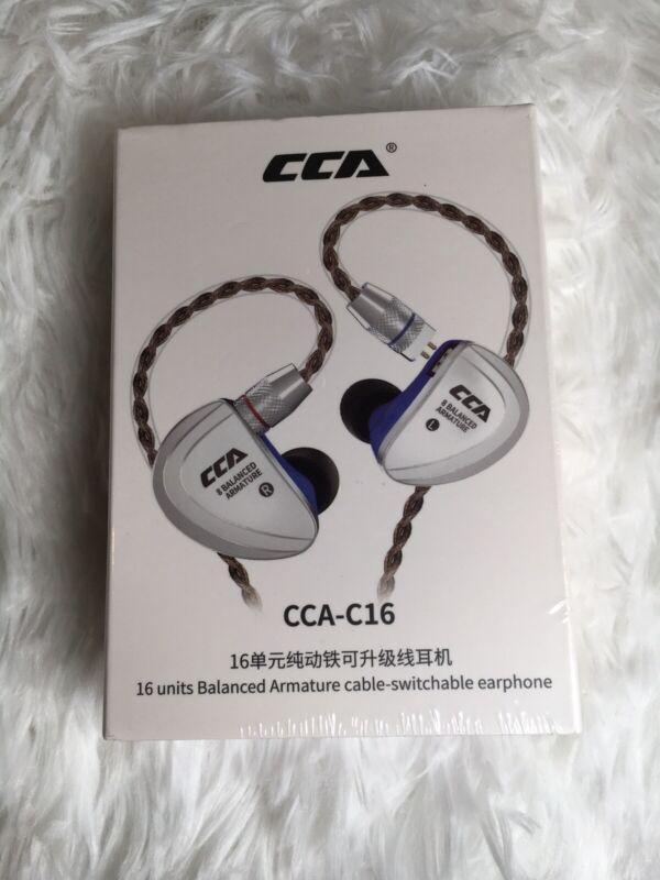 CCA C16 in-Ear Monitors, 8 Balanced Armature Units per Side No Mic