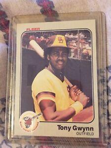1983 tony gwynn baseball rookie card