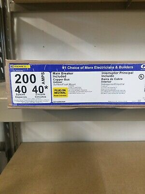 Square D Qo140m200p 40 Circuit 200 Amp Main Breaker Panel Load Center New In Box