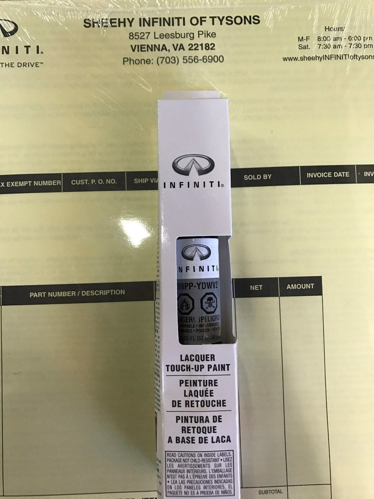 Oem Nissan Infiniti Touch Up Paint Clear Coat Wv2
