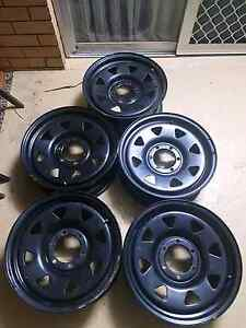 5x black sunraysia rims for sale Albany Creek Brisbane North East Preview