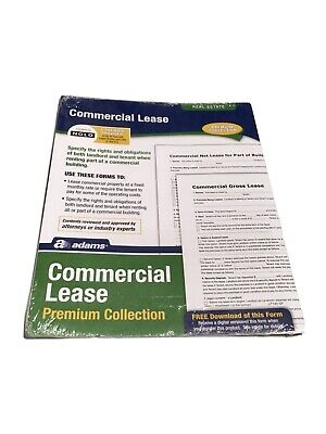 Adams Commercial Lease Form Premium Collection Real Estate Lf140 - New Sealed