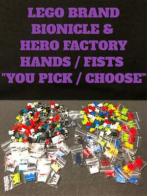 "LEGO BIONICLE HERO FACTORY PART FISTS (93575/64251) ""CHOOSE YOUR STYLE/COLOR"""