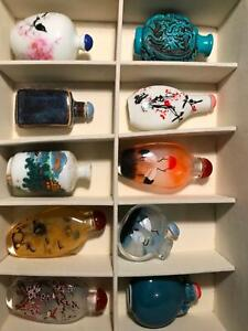 SNUFF BOTTLES Hand painted inside glass