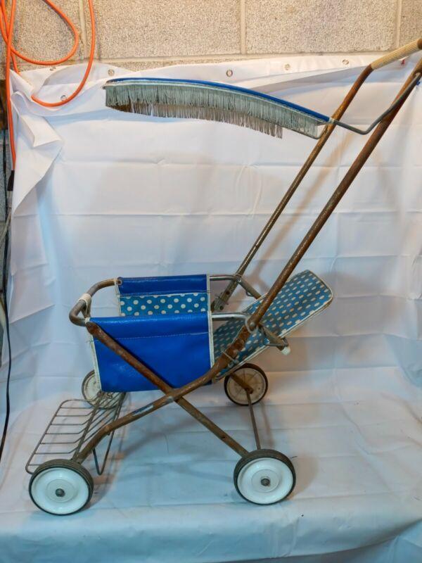 Rare Vintage Gendron Folding Baby Stroller