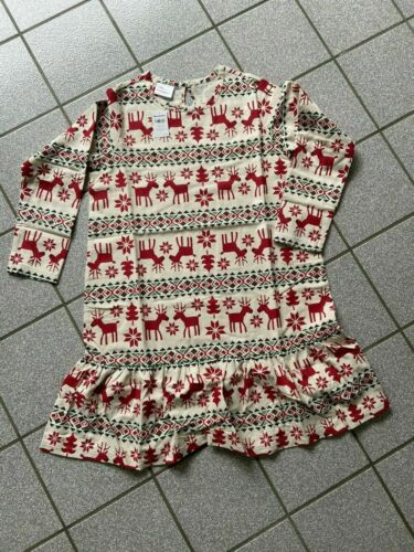 NWT NEW hanna andersson GIRLS Reindeer Holiday Christmas pj nightgown 10 140