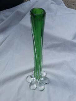 Murano green glass vase Dakabin Pine Rivers Area Preview