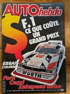 AUTOhebdo - Année 1982 - Lot n°1 de 3 n° - Très bon état