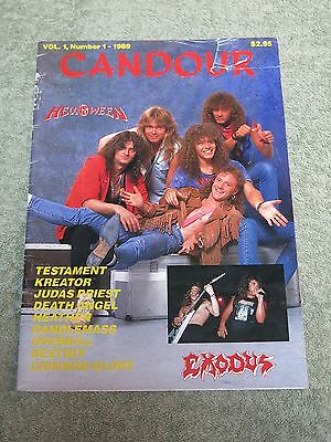 CANDOUR Helloween exodus Testament Kreator Judas Priest Vol 1 No1 1989 MAGAZINE!