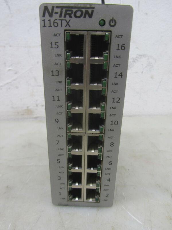 N-TRON 116TX ETHERNET SWITCH, 16 PORT ETHERNET SWITCH