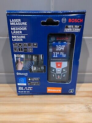 Bosch GLM 50 CX 165ft Laser Measure w/ Bluetooth & Full-Color Display ~ NEW