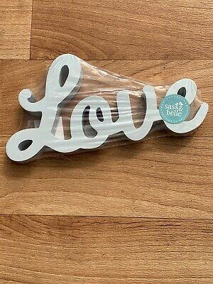 Sash & Belle Wooden Free Standing Grey Love Sign
