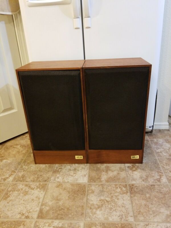 SET OF VINTAGE RARE ACOUSTIC RESEARCH AR 14 SPEAKERS