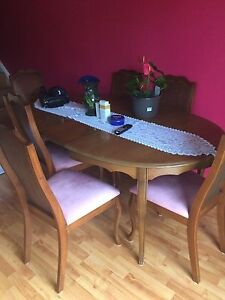 3 pc couch set with tables and 6 chairs and kitchen table