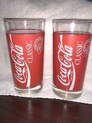 Coca Cola-Classic Original Formula 16 oz Glass Red White Tumbler