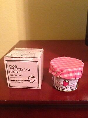 Avon Country Jam Candle - Strawberry - 1985