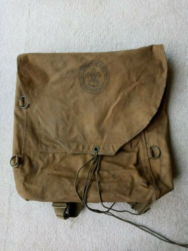 Vintage Boy Scouts of America Canvas Backpack
