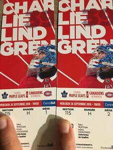 2 montreal vs Toronto tickets September 26 red seats