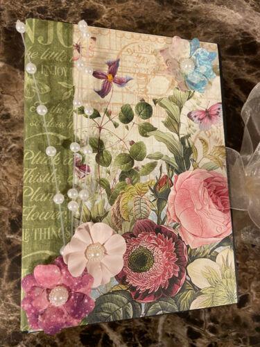 Premade Handmade Bloom Flowers Scrapbook Album