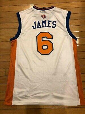 Special Adidas Lebron James #6 New York Knicks Jersey Mens Adult Medium M White