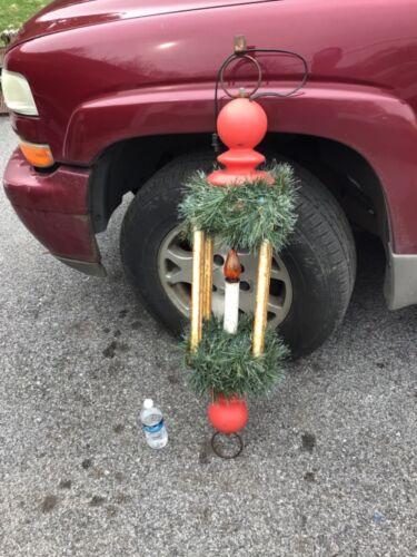 "Vtg Blow Mold 46""  Christmas Lantern Lamp Post Candle Street light Mt. joy PA"