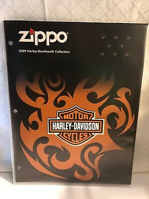 2009 HARLEY-DAVIDSON COLLECTION ZIPPO LIGHTER CATALOG,REFERENCE,NEW