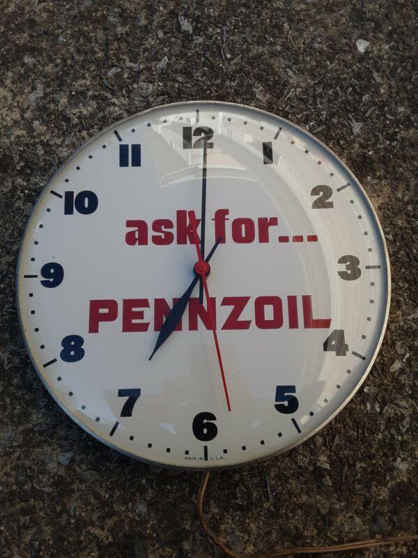 Vintage Pennzoil Clock, Pennzoil Sign