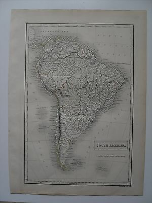 Map, South America - 43½ cm x 32 cm (17¼