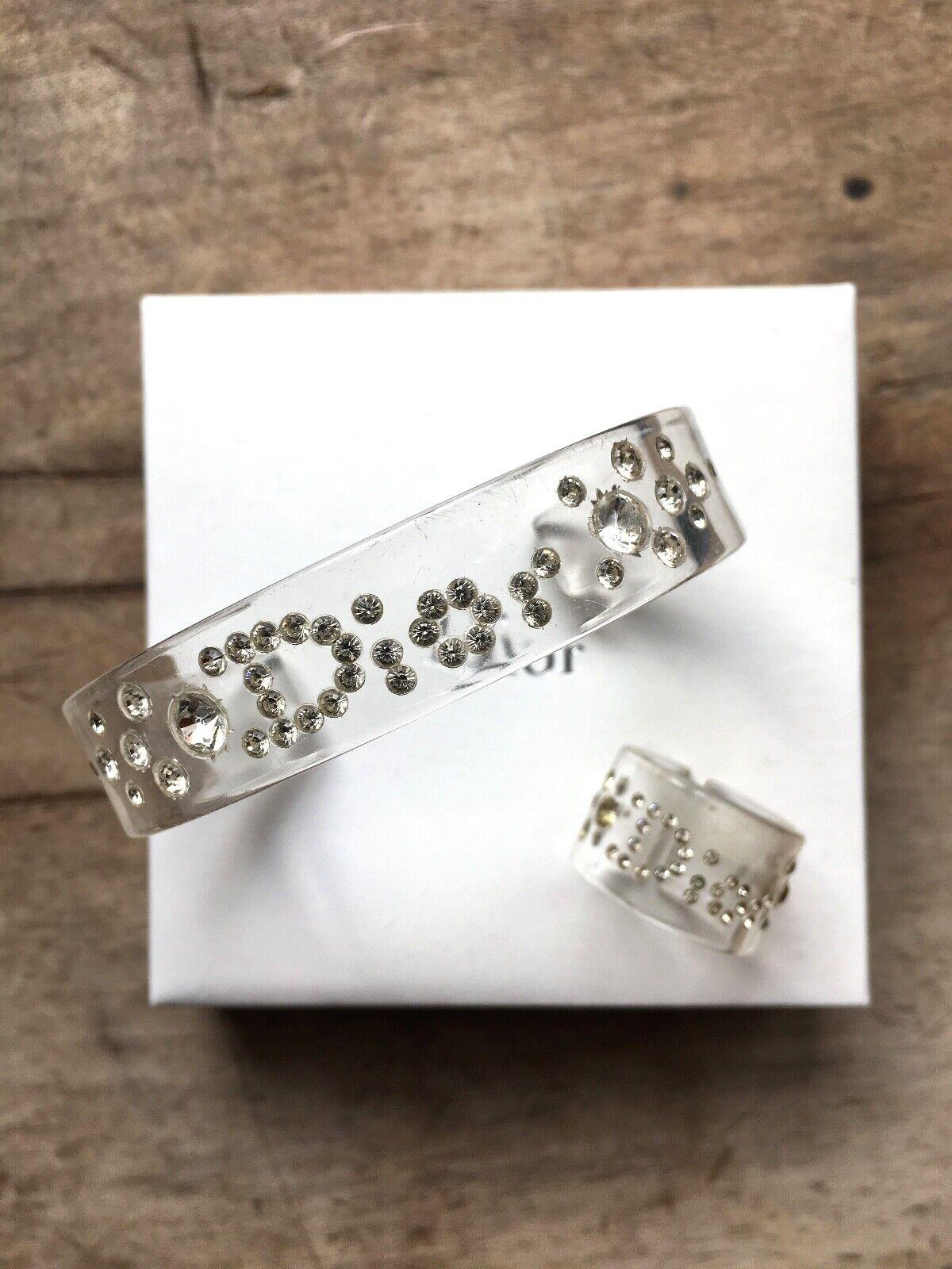 Dior parure bracelet bague perspex swarovski dior lucite bracelet ring galliano