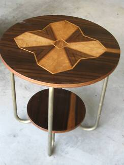 Nice Art Deco Casual Table With Inlaid Top Acacia Ridge Brisbane South West Preview