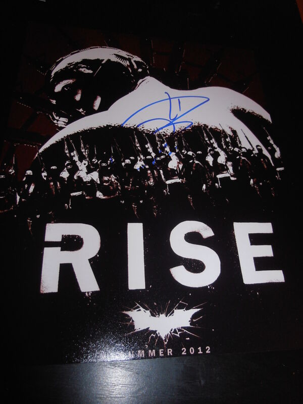 TOM HARDY SIGNED AUTOGRAPH 8x10 PHOTO DARK KNIGHT RISES ACTION SHOT BATMAN COA H