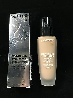 Lancome Photogenic Lumessence Foundation with SPF15 in Bisque 4 W - Boxed, New