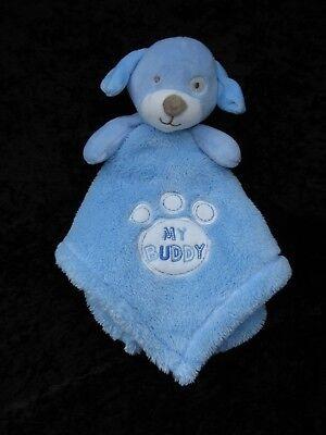 Baby Gear My Buddy Blue Puppy Lovey Soft Security Blanket 16x16