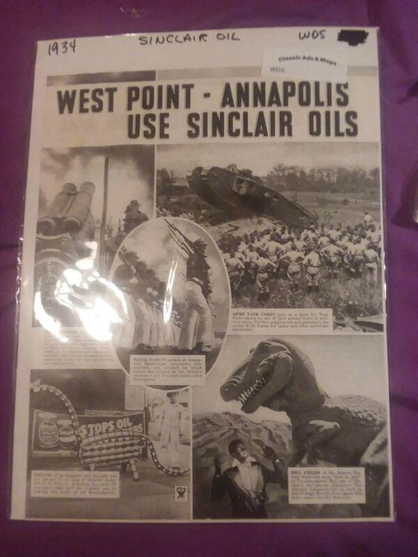 1934 Sinclair Oil Advertisement