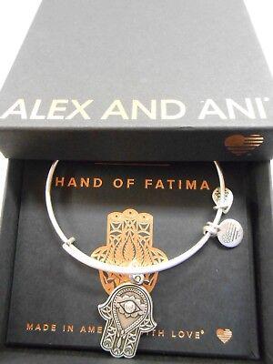 Alex and Ani HAND OF FATIMA III Expandable Wire Bracelet Rafaelian Silver NWTBC