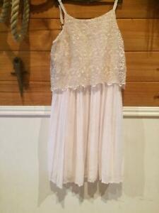 Cute Lace Cream Dress