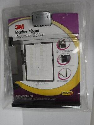 3m Monitor Mount Document Holder New 11.4 X 3.4