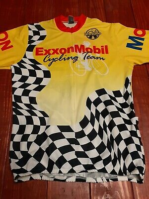 ExxonMobil Cycling Team Jersey BPms150 2005 Houston to Austin Pyroapparel XL