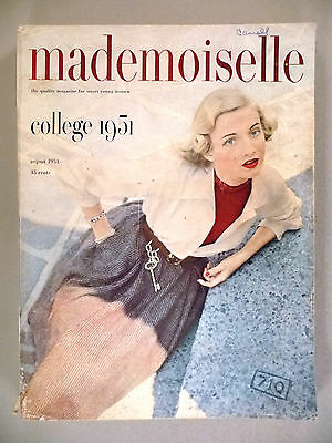 Mademoiselle Magazine - August, 1951 ~~ College Issue ~~ 380 pages