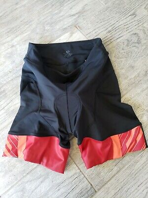 Pearl Izumi Elite Women's Cycling Shorts Size L Black red orange 11211408