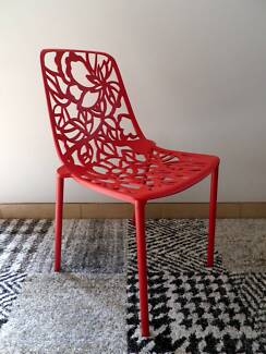 Forest Chairs Red - Two sets of 4 Bankstown Bankstown Area Preview