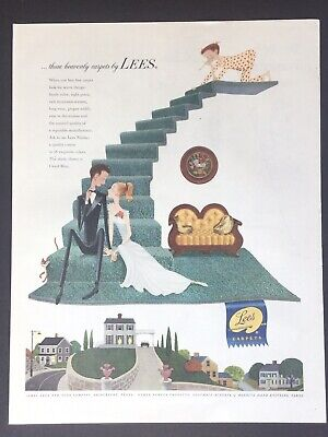 LEes 244 Carpets Home Decor Stairs Illustration Image art 1953 Vintage Print Ad