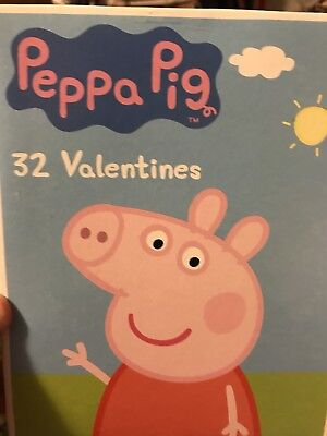 The Peppa Pig Box Of 32 Classroom Valentines Day Cards 2017 NEW](Pig Valentine Box)