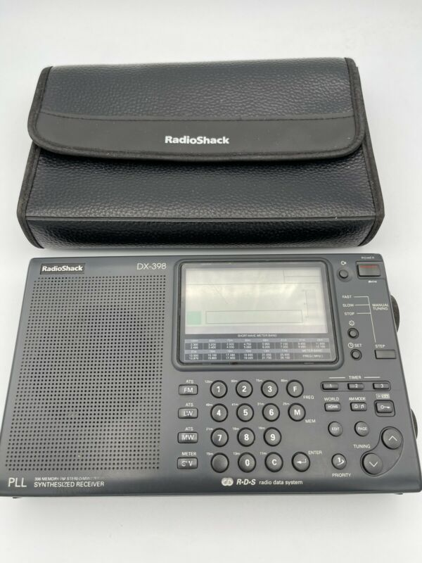 Radio Shack DX-398 Short Wave Radio Portable FM Receiver MW/LW/SW w/Case.  A6
