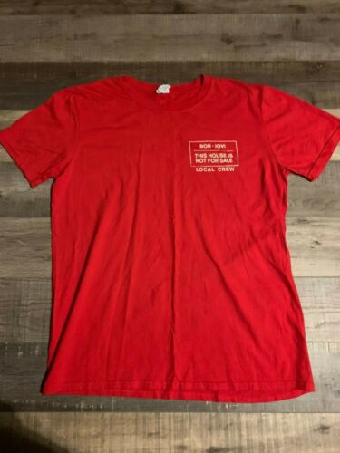Bon Jovi This House Is Not For Sale Tour Local Crew Shirt SIZE LARGE