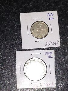 Newfoundland coins lot of 14 as seen
