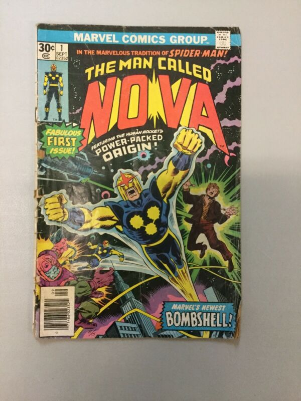 NOVA #1 The Man Called Marvel Comics 1976 LOW GRADE Complete No Cutouts