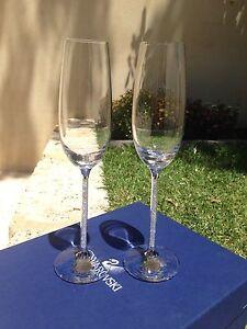 Swarovski champagne flutes Beaconsfield Fremantle Area Preview