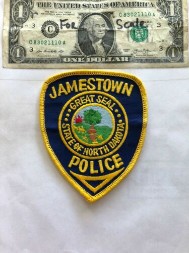 Jamestown North Dakota Police Patch un-sewn in great shape